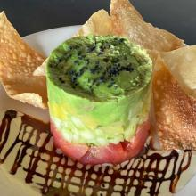 Dini's Happy Hour Ahi Stack